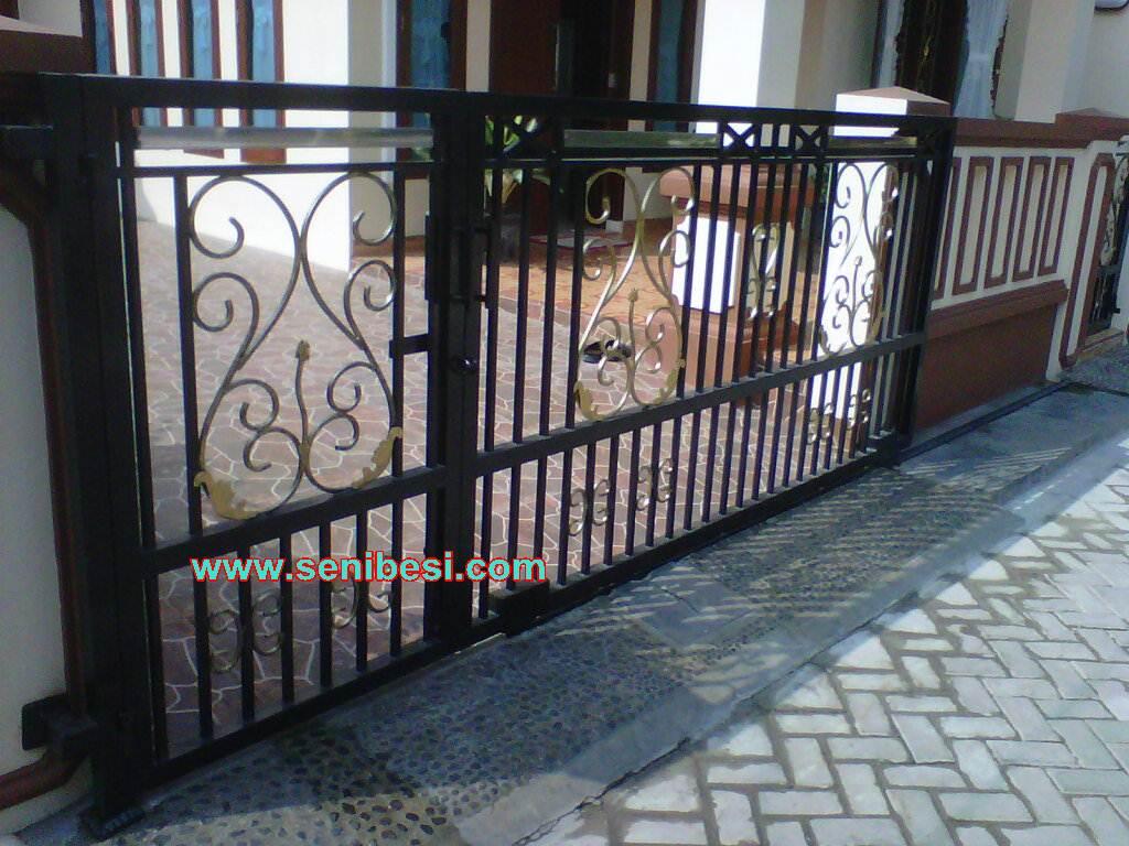 jual pintu besi pintu dorong pintu gerbang pagar rumah